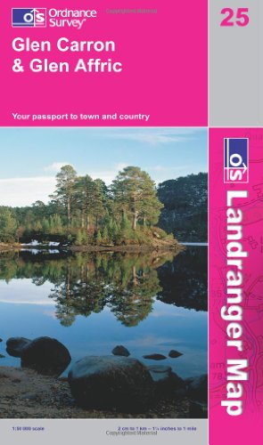 9780319231111: Glen Carron & Glen Affric (OS Landranger Active Map)