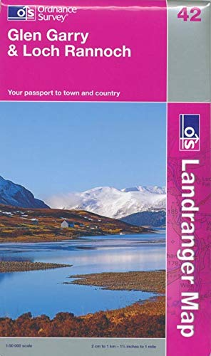 L/R Map 042 Glen Garry & Loch Rannoch (Landranger Maps) (OS Landranger Active Map): Ordnance ...