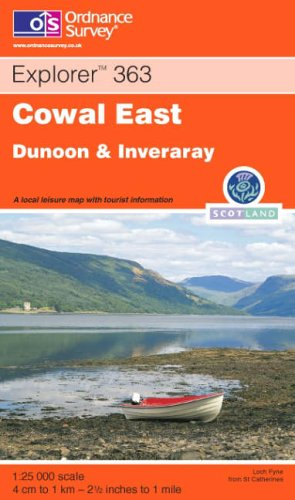 9780319233030: Ordnance Survey Explorer Map 363 Cowal East, Dunoon & Inverary
