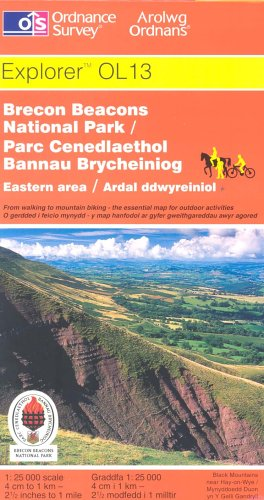 9780319234488: Carte de randonnée : Brecon Beacons National Park (en anglais)