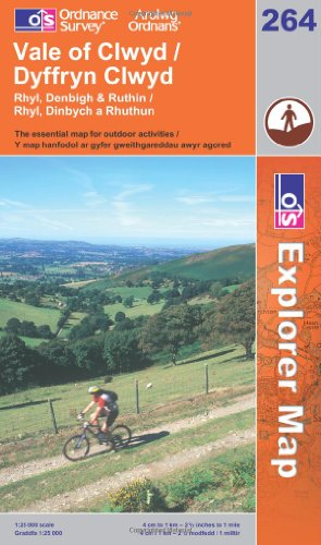 9780319236529: Vale of Clwyd, Rhyl, Denbigh and Ruthin (Explorer Maps) (OS Explorer Map)