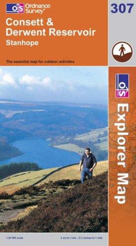 9780319236673: Exp 307 Consett & Derwent Reservoir (Explorer Maps) (OS Explorer Map)