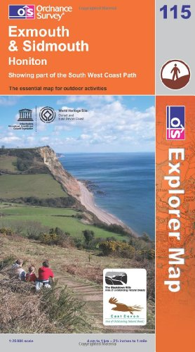 9780319237144: Exmouth and Sidmouth, Honiton (Explorer Maps 115 Map)