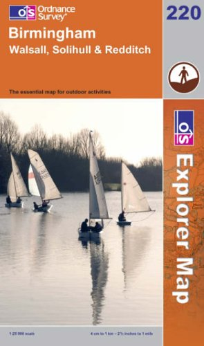 9780319237670: Birmingham, Walsall, Solihull and Redditch (Explorer Maps)