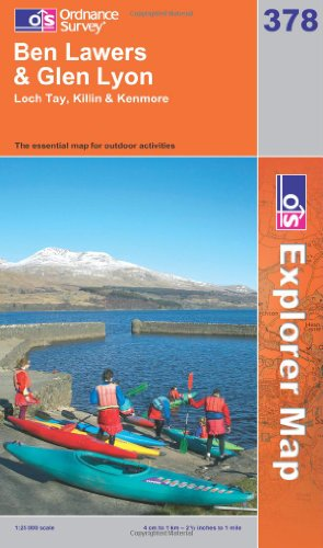 9780319239001: Exp 378 Ben Lawers and Glen Lyon (Explorer Maps) (OS Explorer Map)