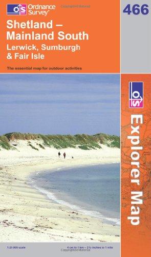 9780319240021: Shetland Mainland South (OS Explorer Map)