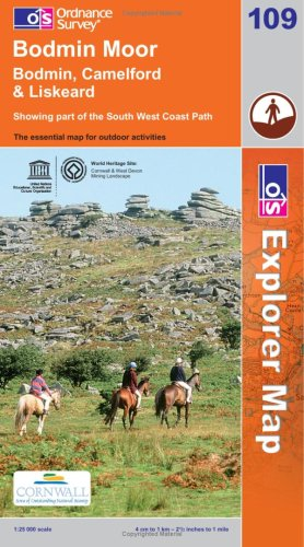 9780319240472: Bodmin Moor (Explorer Maps) 109 1:25k (OS Explorer Map)