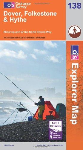 9780319240748: Exp 138 Dover Folkestone Hythe (Explorer Maps) (OS Explorer Map)