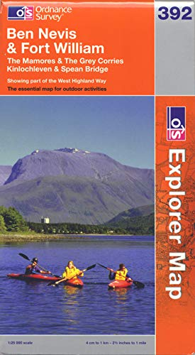 9780319241196: Ben Nevis and Fort William, The Mamores and The Grey Corries, Kinlochleven and Spean Bridge (OS Explorer Map)