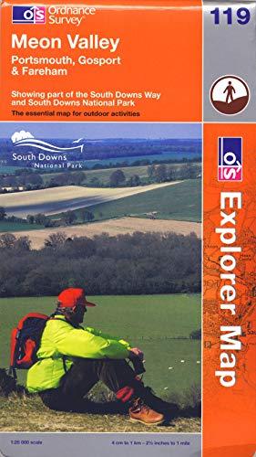 9780319241240: Meon Valley, Porstmouth, Gosport and Fareham (OS Explorer Map Active)