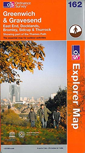 9780319241530: Greenwich and Gravesend (OS Explorer Map)