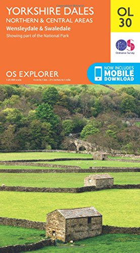 9780319242698: Yorkshire Dales - Northern & Central Areas, Wensleydale & Swaledale (OS Explorer Map)