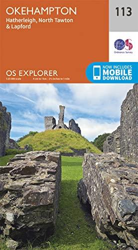 9780319243145: OS Explorer Map (113) Okehampton