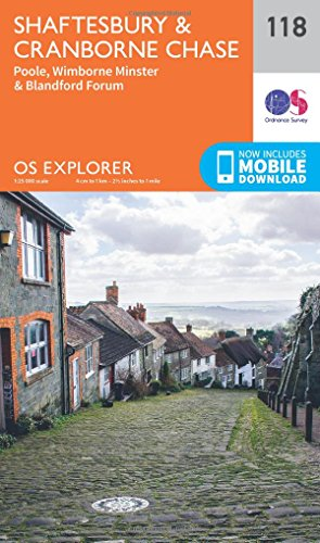 Shaftesbury, Cranbourne Chase, Poole, Wimbourne Minster and Blandford (OS Explorer Map): Ordnance ...