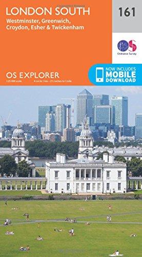 9780319243541: OS Explorer Map (161) London South, Westminster, Greenwich, Croydon, Esher & Twickenham