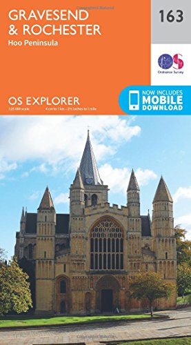 9780319243565: OS Explorer Map (163) Gravesend and Rochester