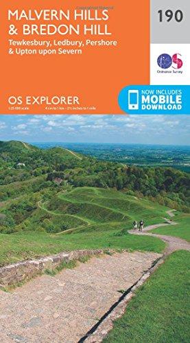 9780319243831: OS Explorer Map (190) Malvern Hills and Bredon Hill