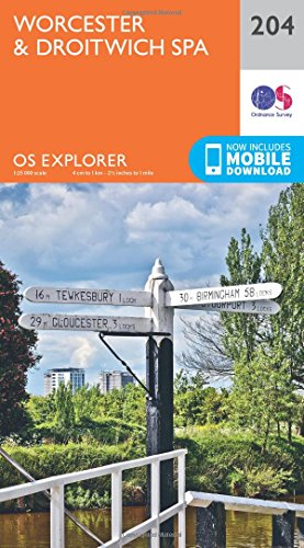 9780319243978: Worcester and Droitwich Spa (OS Explorer Map)