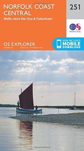 9780319244470: Norfolk Coast Central (OS Explorer Map)