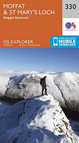 OS Explorer Map (330) Moffat and St: Ordnance Survey
