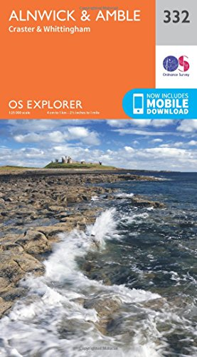 9780319245842: Alnwick and Amble, Craster and Whittingham (OS Explorer Active Map)