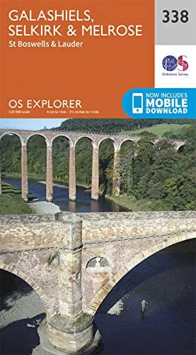 9780319245903: Galashiels, Selkirk and Melrose (OS Explorer Active Map)