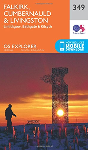9780319246009: OS Explorer Map 349 Falkirk, Cumbernauld and Livingstone