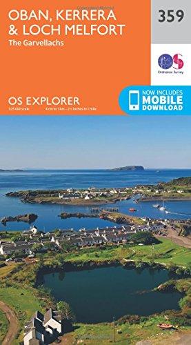 Oban, Kerrera and Loch Melfort (OS Explorer Map): Ordnance Survey
