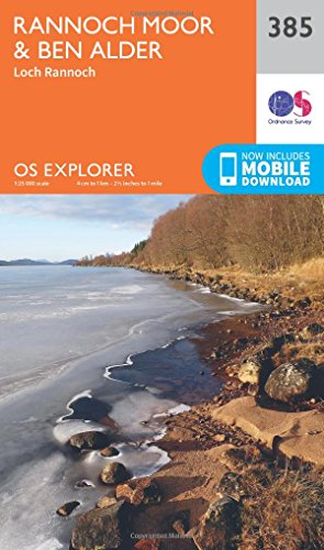 9780319246313: OS Explorer Map 385 Rannoch Moor and Ben Alder OS Explorer Paper Map