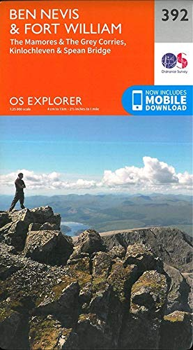 9780319246351: Ben Nevis and Fort William, the Mamores and the Grey Corries, Kinlochleven and Spean Bridge (OS Explorer Active Map)