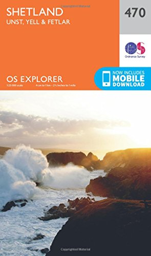 9780319247211: Shetland - Unst, Yell and Fetlar (OS Explorer Map)