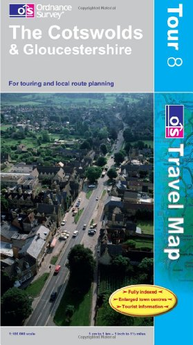 9780319250525: *Cotswolds & Gloucestershire N 8 (OS Travel Map - Tour Map)