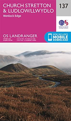 9780319262351: Landranger (137) Ludlow & Church Stretton, Wenlock Edge (OS Landranger Map)