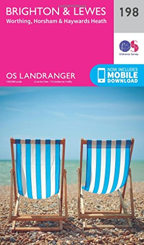 Landranger (198) Brighton & Lewes, Haywards Heath (OS Landranger Map): Ordnance Survey