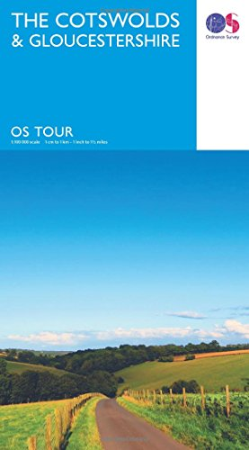9780319263198: The Cotswolds & Gloucestershire (OS Tour Map #8) 1:100K