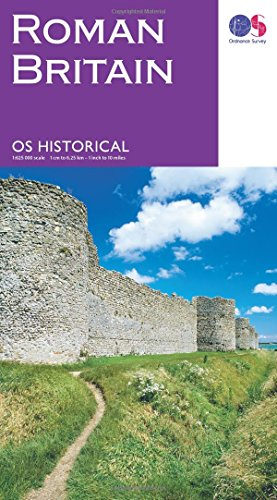 9780319263259: Map of Roman Britain   Historical Map & Guide   Ordnance Survey   Roman Empire   History Gifts   Geography   British History