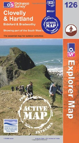 9780319461419: Clovelly and Hartland (OS Explorer Map Active)