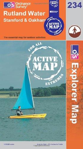 9780319464069: Rutland Water (OS Explorer Map Active)