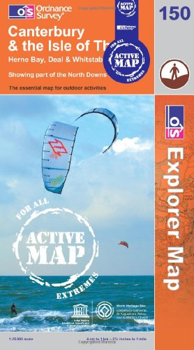 9780319466131: Canterbury and the Isle of Thanet (OS Explorer Map Active)