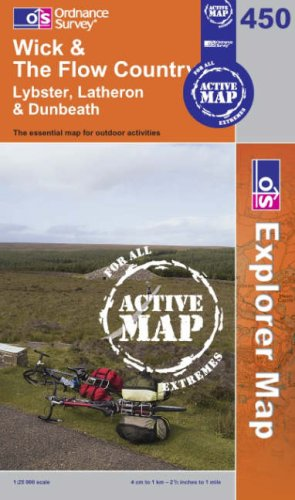 9780319466797: Wick and the Flow Country (OS Explorer Map Active)