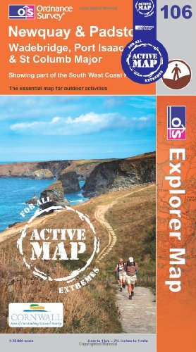 Newquay and Padstow (OS Explorer Map Active): Ordnance Survey