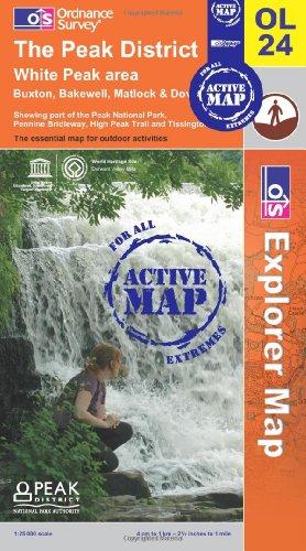 The Peak District - White Peak Area (OS Explorer Map Active): Ordnance Survey