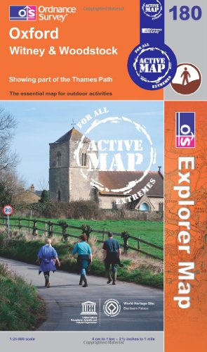 Oxford, Witney and Woodstock (OS Explorer Map Active): Ordnance Survey
