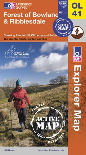 9780319468555: Forest of Bowland & Ribblesdale (OS Explorer Map Active)