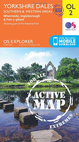 9780319469200: Yorkshire Dales - Southern & Western Areas, Whernside, Ingleborough & Pen-y-Ghent (OS Explorer Map Active)