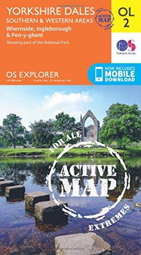 9780319469200: Yorkshire Dales - Southern & Western Areas, Whernside, Ingleborough & Pen-y-Ghent (OS Explorer Map Active)