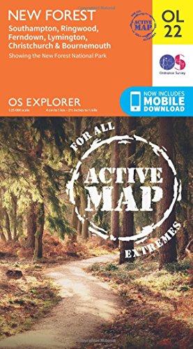 New Forest, Southampton, Ringwood, Ferndown, Lymington, Christchurch and Bournemouth (OS Explorer ...