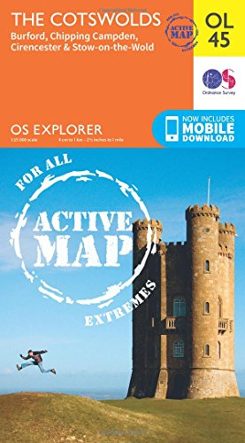 9780319469637: The Cotswolds, Burford, Chipping Campden, Cirencester & Stow-on-the Wold (OS Explorer Map)