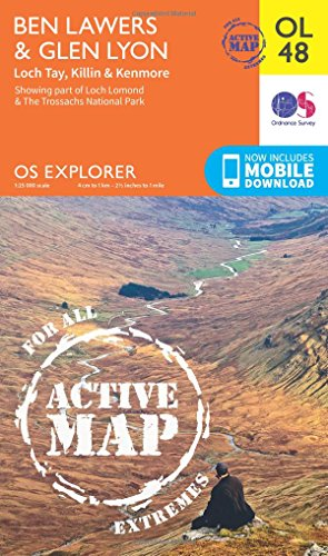 Ben Lawers & Glen Lyon, Loch Tay, Killin & Kenmore (OS Explorer Map Active): Ordnance ...