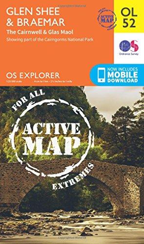 9780319469705: Glen Shee & Braemar, the Cairnwell & Glas Maol (OS Explorer Map Active)